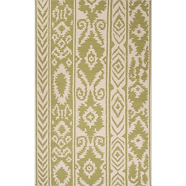 Bungalow Rose Terrence Green/Ivory Rug; 8' x 10'