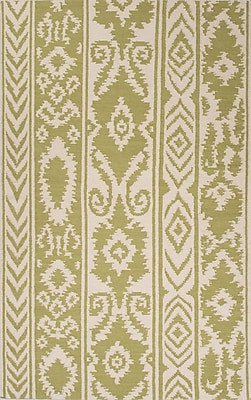 Bungalow Rose Terrence Green/Ivory Rug; 2' x 3'