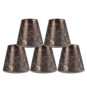 Loon Peak 5'' Mica Bell Candelabra Shade Set of 5 (Set of 5); Amber