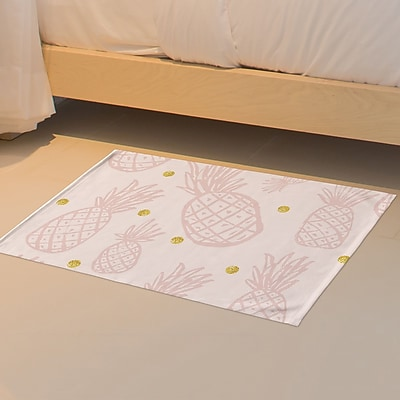 Bay Isle Home Pineapple Floor Pink Area Rug