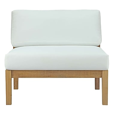 Bayou Breeze Edmeston Outdoor Teak Armless Chair w/ Cushions