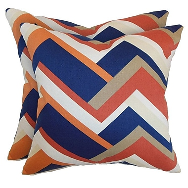 The Pillow Collection Zane Pillow in Melon (Set of 2)