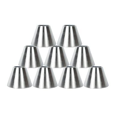 Orren Ellis 6'' Metal Bell Lamp Shade Set of 9 (Set of 9); Nickel
