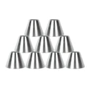 Orren Ellis 6'' Metal Bell Lamp Shade Set of 9 (Set of 9); Nickel