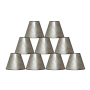 Fleur De Lis Living 6'' Mica Bell Lamp Shade Set of 9 (Set of 9); Silver