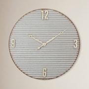 Gracie Oaks 32'' Round Metal Clock