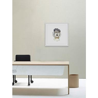 Ivy Bronx 'Oscar Dog' Framed Painting Print; 12'' H x 12'' W