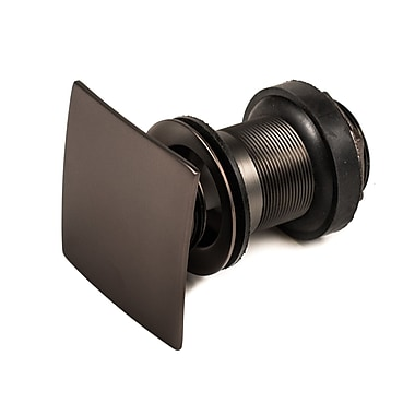 JSG Oceana Square 1.25'' Pop-Up Bathroom Sink Drain; Oil Rubbed Bronze