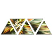 'Exotic Brown Fractal Spiral Flower' Graphic Art Print Multi-Piece Image on Wrapped Canvas