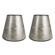 Loon Peak 5'' Mica Bell Candelabra Shade Set of 2 (Set of 2); Silver