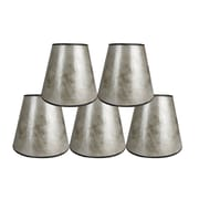 Loon Peak 5'' Mica Bell Candelabra Shade Set of 5 (Set of 5); Silver