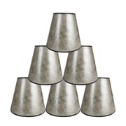Loon Peak 5'' Mica Bell Candelabra Shade Set of 6 (Set of 6); Silver