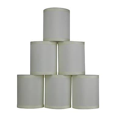 Latitude Run 4'' Faux Silk Drum Candelabra Shade Set of 6 (Set of 6); Eggshell