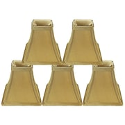 Red Barrel Studio Softback Square 5'' Faux Silk Bell Candelabra Shade (Set of 5); Gold