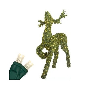 The Holiday Aisle LED Reindeer Topiary Raising Its Head Lighted Display; 3.5 Ft.