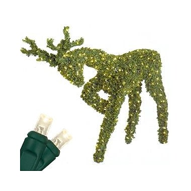 The Holiday Aisle LED Reindeer Topiary Lowering Its Head Lighted Display; 3.5 Ft.