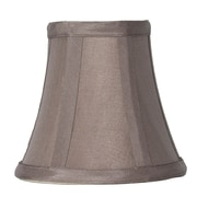 Red Barrel Studio 5'' Silk Bell Candelabra Shade; Taupe