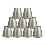 Loon Peak 5'' Mica Bell Candelabra Shade Set of 9 (Set of 9); Silver
