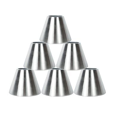 Orren Ellis 6'' Metal Bell Lamp Shade Set of 6 (Set of 6); Nickel