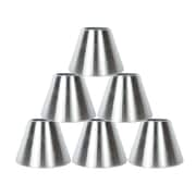 Orren Ellis 6'' Metal Bell Lamp Shade Set of 6 (Set of 6); Nickel