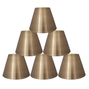 Orren Ellis 6'' Metal Bell Lamp Shade Set of 6 (Set of 6); Antique Brass