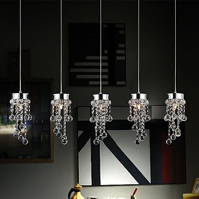 CrystalWorld 5-Light Crystal Chandelier