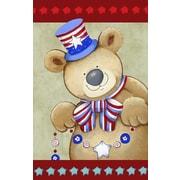 The Cranford Group Patriotic Bear Garden Flag