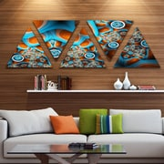 'Brown Extraterrestrial Life Forms' Graphic Art Print Multi-Piece Image on Wrapped Canvas