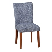 August Grove Duclair Upholstered Parsons Chair in Blue (Set of 2)