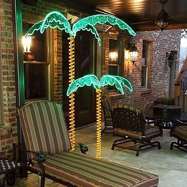 Bayou Breeze LED Palm Tree Rope Light; 7 Ft.