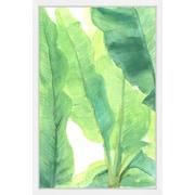 Bay Isle Home 'Wild Banana Leaves' Framed Painting Print; 24'' H x 16'' W