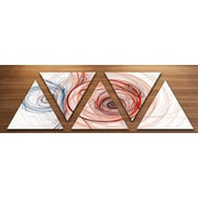 'Brown Blue Fractal Illustration' Graphic Art Print Multi-Piece Image on Wrapped Canvas