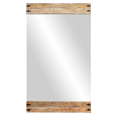 Union Rustic Kailee Wood Floor Accent Mirror