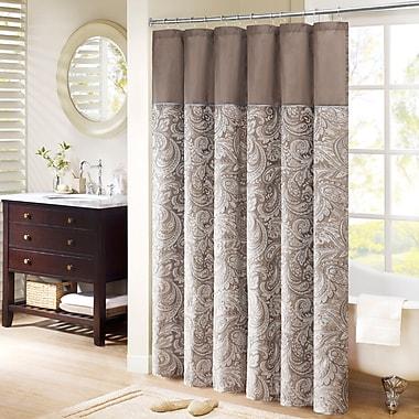 Alcott Hill Pokanoket Jacquard Shower Curtain; 96'' H x 72'' W