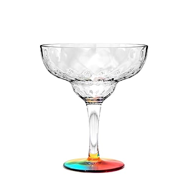 Bayou Breeze Ellicottville Kaleidoscope 18.8 oz. 6 Piece Margarita Glass Set (Set of 6)