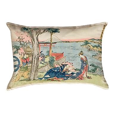 Bloomsbury Market Enya Japanese Courtesan Rectangular Lumbar Pillow w/ Insert; 14'' x 20''