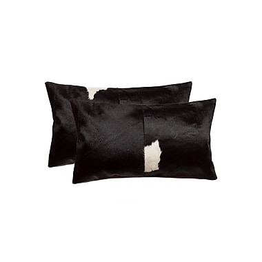 Bloomsbury Market Graham Rectangular Leather Lumbar Pillow (Set of 2)