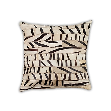 Bloomsbury Market Graham Hand Woven Cowhide Throw Pillow