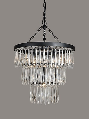 Gracie Oaks Kaleigh 4-Light Crystal Chandelier