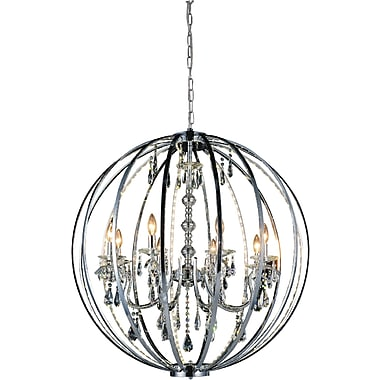 CrystalWorld Bird Cage 8-Light Candle-Style Chandelier