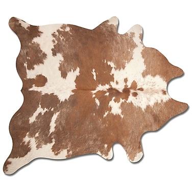 17 Stories Abhinav Hand Woven Brown/White Cowhide Area Rug