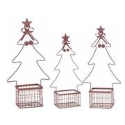 The Holiday Aisle 3 Piece Nested Tree Basket Set