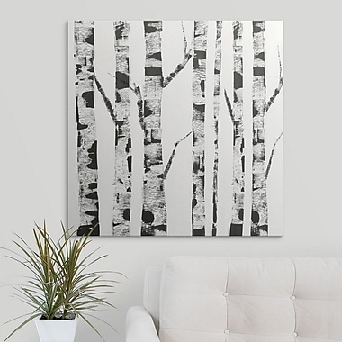 Union Rustic 'White Birch' Print on Canvas; 12'' H x 12'' W x 1.5'' D