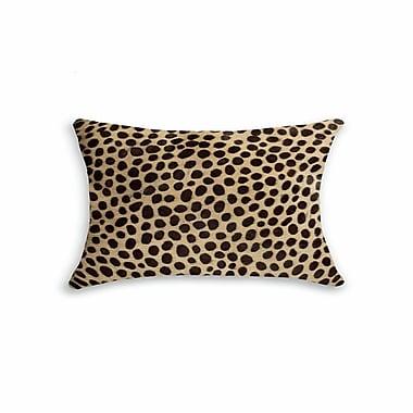 Bloomsbury Market Graham Modern Hand Woven Rectangle Cowhide Lumbar Pillow