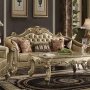 Astoria Grand Reimann Leather Sofa