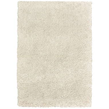 Gracie Oaks Seward Shag Hand Tufted Cream Area Rug