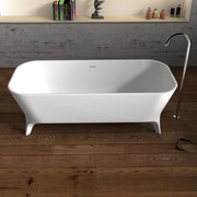 CheviotProducts Palermo Solid Surface 70.75'' x 31.5'' Freestanding Soaking Bathtub