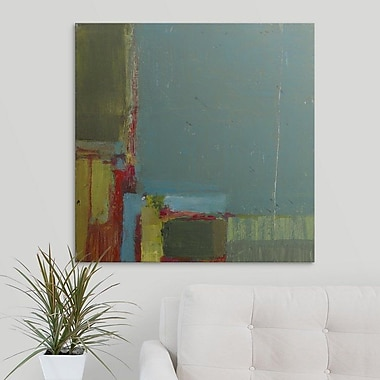 George Oliver 'Perspectives in Teal' Print on Canvas; 8'' H x 8'' W x 1.5'' D
