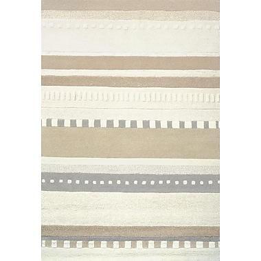 Bungalow Rose Crosby Hand-tufted Tan/Ivory Area Rug; 5' x 7'3''