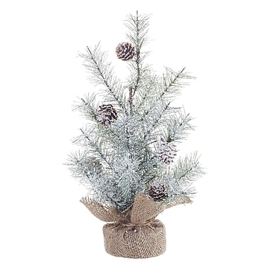 The Holiday Aisle Faux Icy 12'' Pine Artificial Christmas Tree
